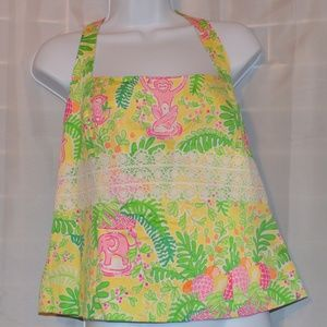 Lilly Pulitzer Halter tie top Jungle NWT Sz 10